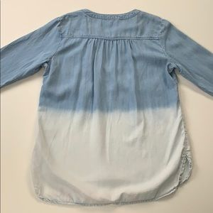 Anthropologie Tops - Cloth & Stone • Ombré Popover Chambray